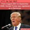 WTF Fun Fact – Donald Trump Registered Democrat