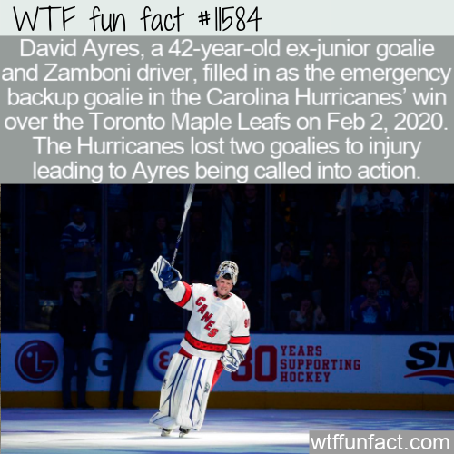 WTF Fun Fact - Emergency Backup Goalie Wins