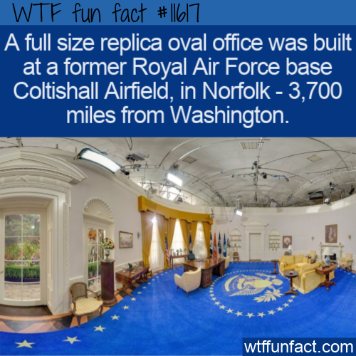 WTF Fun Fact - Full Size Oval Office Replica