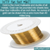 WTF Fun Fact – Gold Ductility