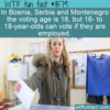 WTF Fun Fact – Interesting Voting Age Addendum