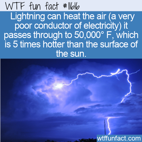 WTF Fun Fact - Lightning Hotter Than The Sun