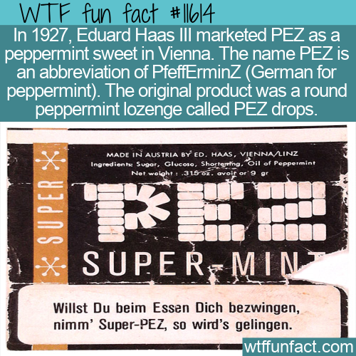 WTF Fun Fact - PEZ drops