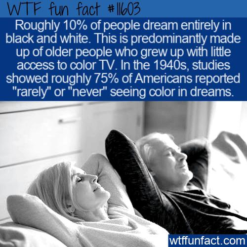 WTF Fun Fact - People Still Dream In Black & White