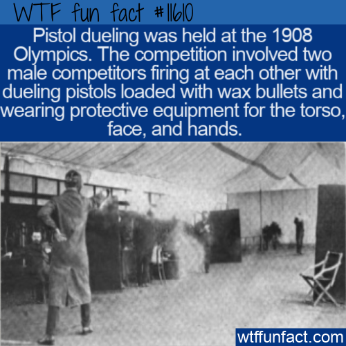 WTF Fun Fact - Pistol Dueling At The Olympics
