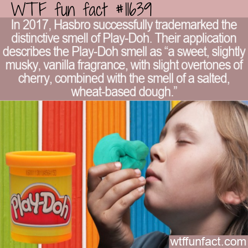 WTF Fun Fact - Play-Dohs Trademarked Smell