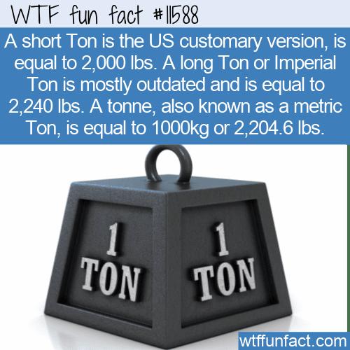 WTF Fun Fact - Ton or Tonne