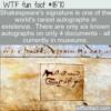 WTF Fun Fact – World's Rarest Autograph