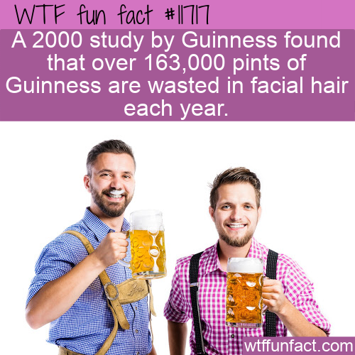 WTF Fun Fact - Beards Waste Beer