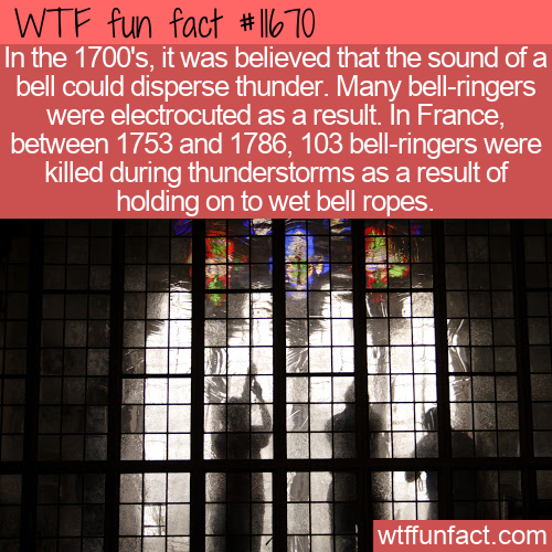 WTF Fun Fact - Bells Don't Disperse Thunderstorms