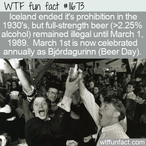 WTF Fun Fact - Bjordagurinn Beer Day