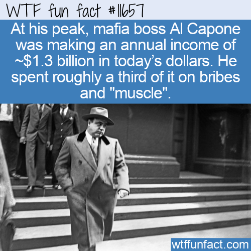 WTF Fun Fact - Capone Made Billions