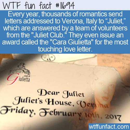 WTF Fun Fact - Cara Giulietta