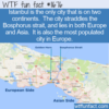 WTF Fun Fact – City On Two Continents
