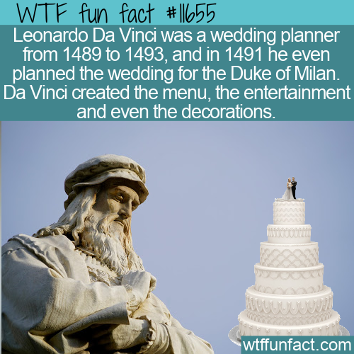 WTF Fun Fact - Da Vinci The Wedding Planner