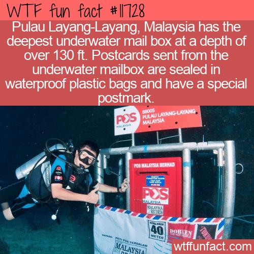 WTF Fun Fact - Deepest Underwater Mailbox