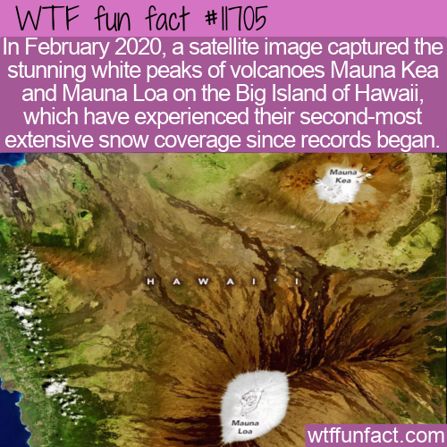 WTF Fun Fact - Hawaii's Snow Covered Volcanoes