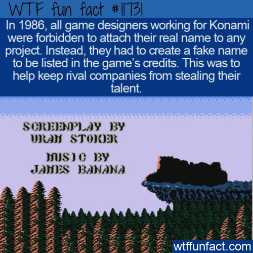 WTF Fun Fact - Konami's Fake Game Designers