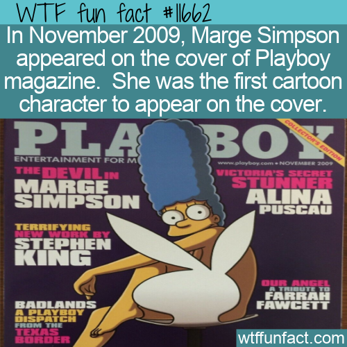 WTF Fun Fact - Marge Simpson On Playboy