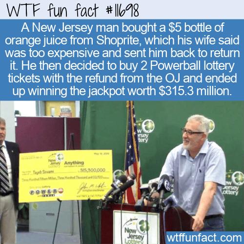 WTF Fun Fact - No OJ But A Jackpot Instead