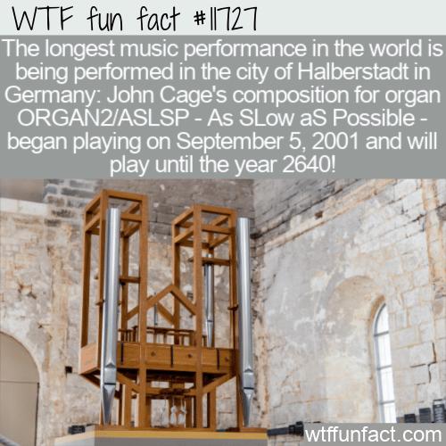 WTF Fun Fact - ORGAN2_ASLSP In Halberstadt
