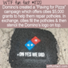WTF Fun Fact – Paving For Pizza