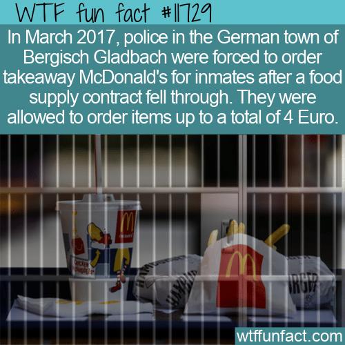 WTF Fun Fact - Prisoners Eating McDonald's