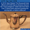 WTF Fun Fact – Roosevelt Hotel Giveback Contest