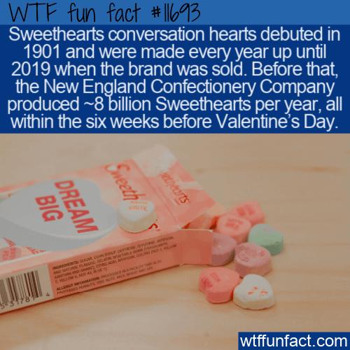 WTF Fun Fact - Sweethearts Conversation Hearts