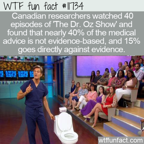 WTF Fun Fact - The Dr. Oz Show Goes Against Evidence