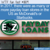 WTF Fun Fact – Abundance Of Payday Loan Stores