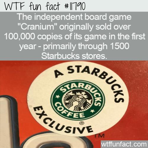 WTF Fun Fact - Cranium & Starbucks