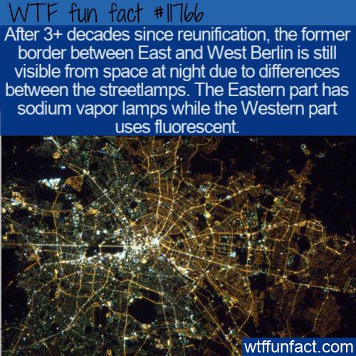 WTF Fun Fact - East vs West Berlin Still Visible