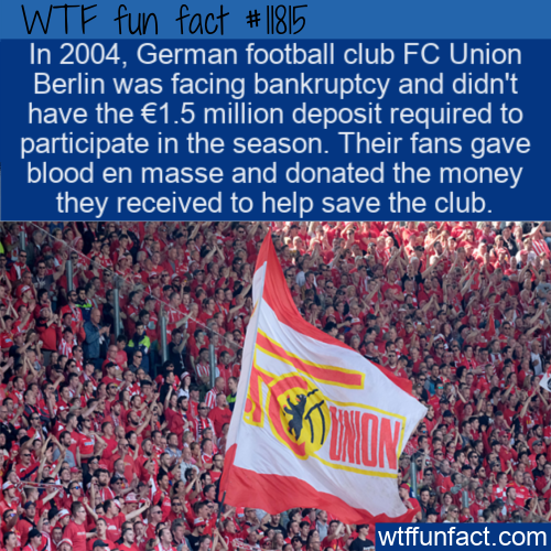 WTF Fun Fact - Fans Donate Blood To Save Team
