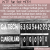 WTF Fun Fact – Georgia Tech 222-0