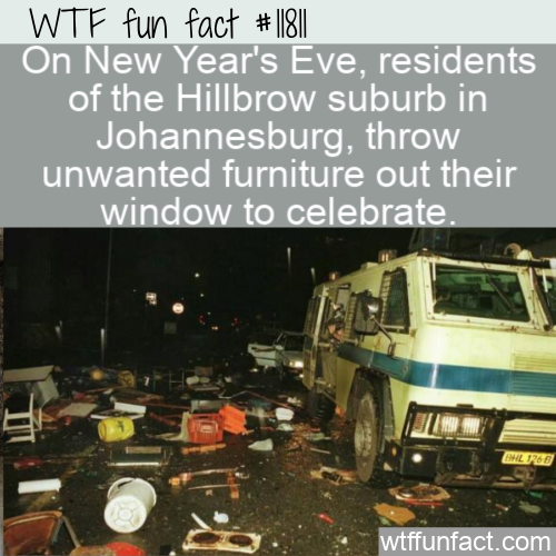 WTF Fun Fact - Hillbrow Defenestrates On NYE