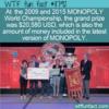 WTF Fun Fact – MONOPOLY World Championship Grand Prize