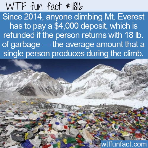 WTF Fun Fact - Mt. Everest Trash Deposit