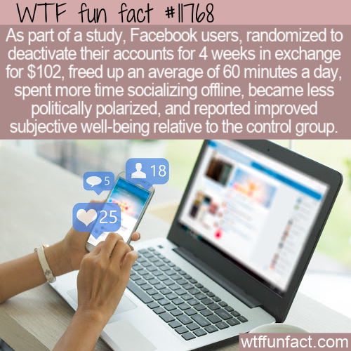 WTF Fun Fact - Reasons To Quit Facebook