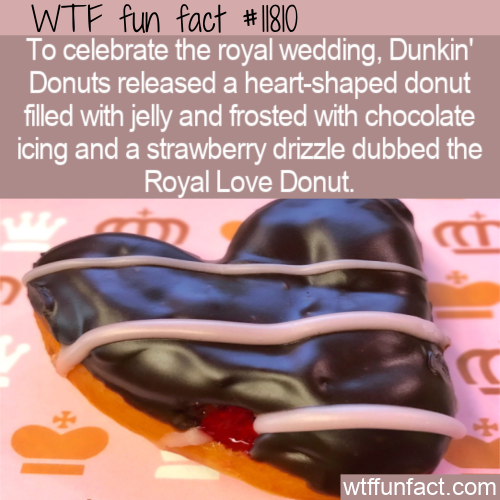 WTF Fun Fact - Royal Love Donut