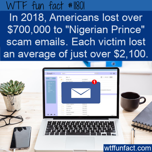 WTF Fun Fact - Scam Emails