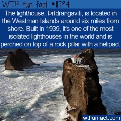 WTF Fun Fact - Þrídrangaviti