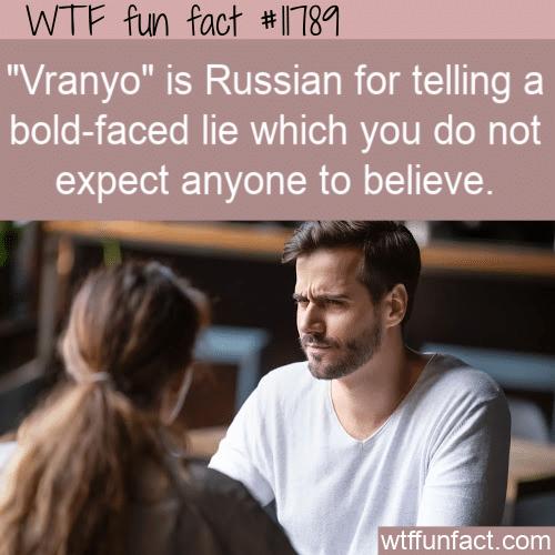 WTF Fun Fact - Vranyo
