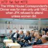 WTF Fun Fact – White House Correspondent's Dinner Men Only