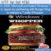 WTF Fun Fact – Windows 7 Patty Whopper