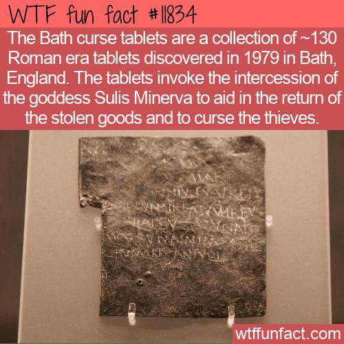 WTF Fun Fact - Bath Curse Tablets