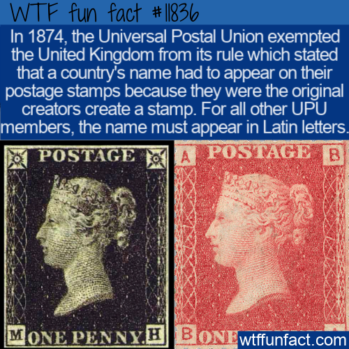 WTF Fun Fact - Country On Stamps