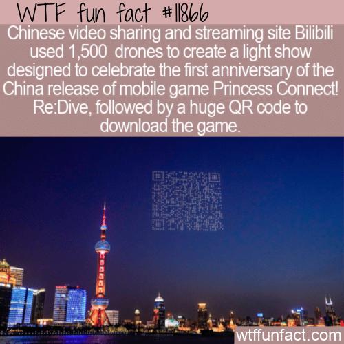 WTF Fun Fact - Giant QR Code Over Shanghai