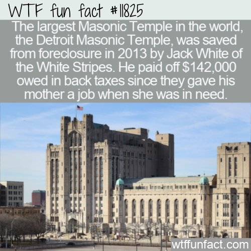 WTF Fun Fact - Jack White Saves Masonic Temple