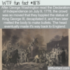 WTF Fun Fact – King George Beheaded And Melted